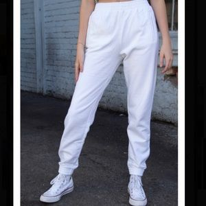 Brandy Melville Rosa Sweatpants in white, one size